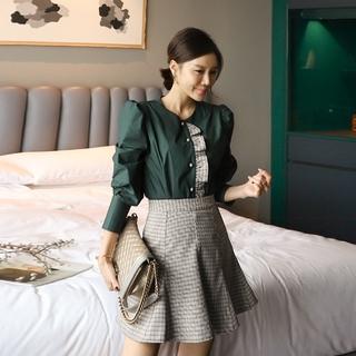 Set Đầm Thời Trang Tay Dài Phong Cách Hàn Quốc 2020