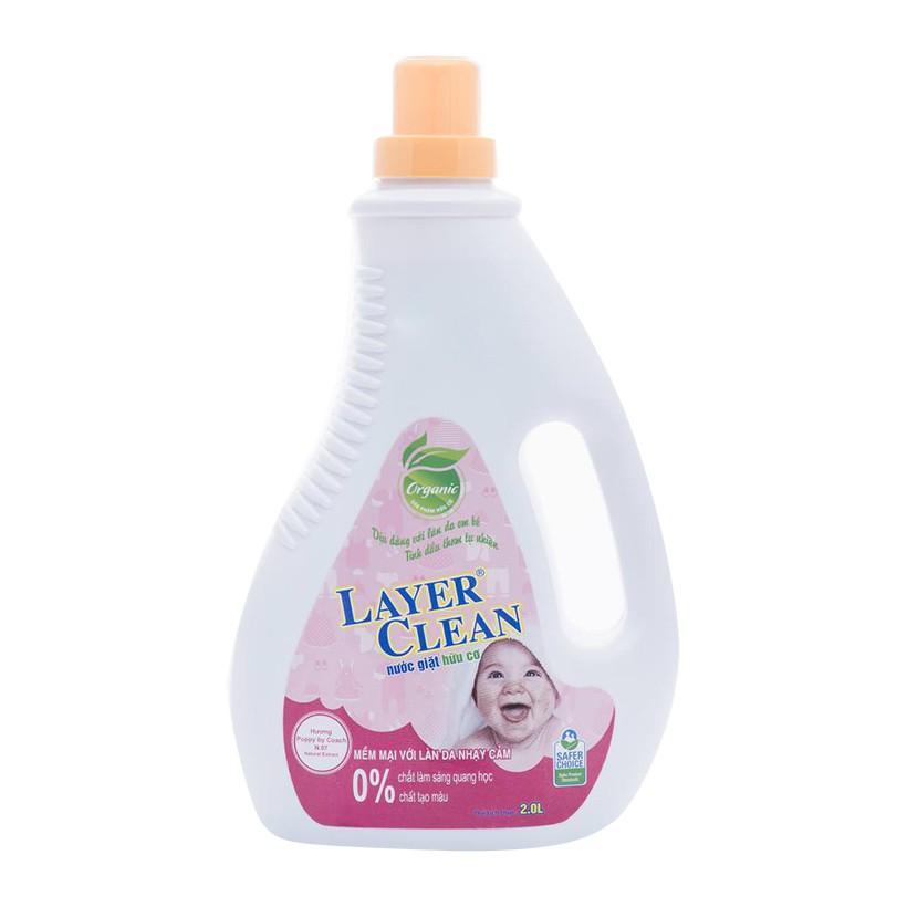 Nước giặt hữu cơ Dịu nhẹ Layer Clean - 2000ml