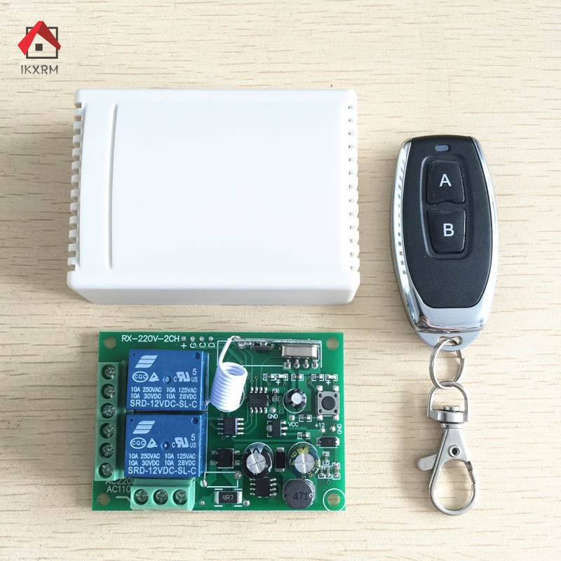 IKXRM Universal 433 Mhz Wireless Remote Control Switch Relay 220V 2CH Receiver Module +RF 433Mhz Remote Controls