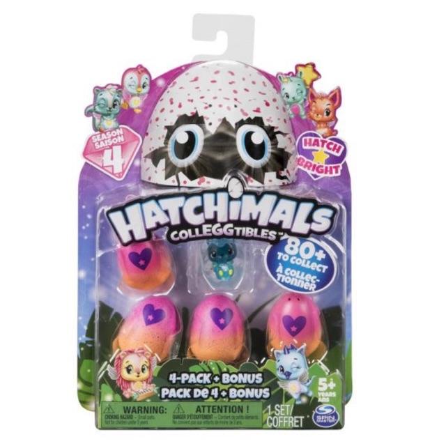 Vỉ trứng Hatchimals season 4 hàng chính hãng fullbox (thú phát sáng)