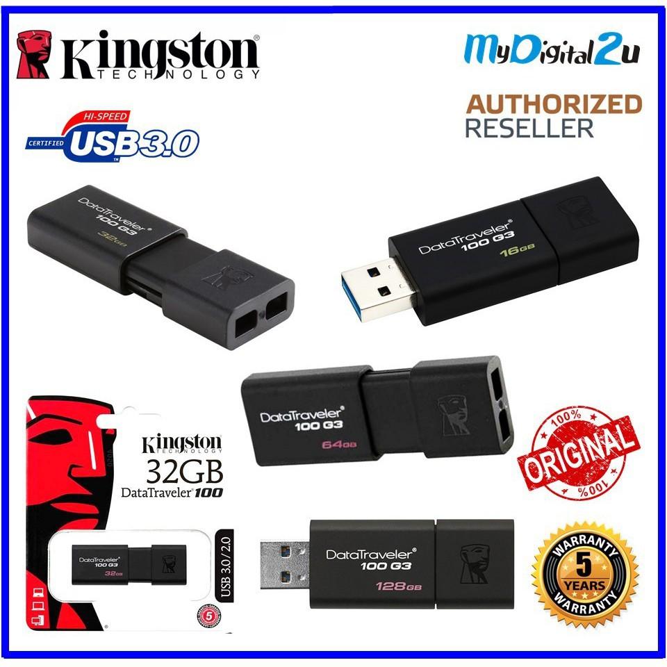 Kingston Data Traveler 100G3 16GB/32GB/64GB/128GB USB 3.0 Drive