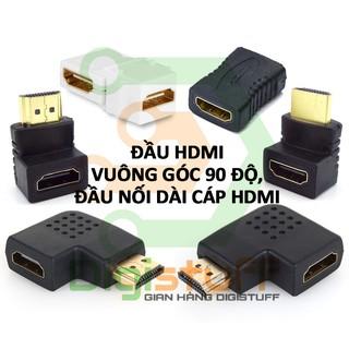 Đầu nối dài cáp HDMI đầu chuyển HDMI vuông góc chữ L ( góc trái, phải, lên, xuống )