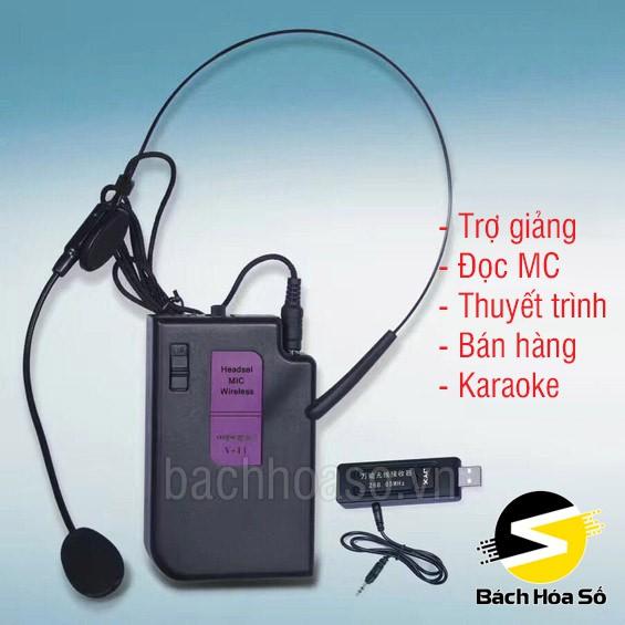 Micro trợ giảng không dây đeo tai TẶNG PIN