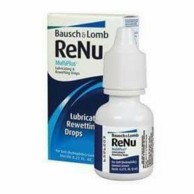 NT - Nước nhỏ mắt Renu 8ml ( MỸ ) - Dùng khi đeo kính áp tròng