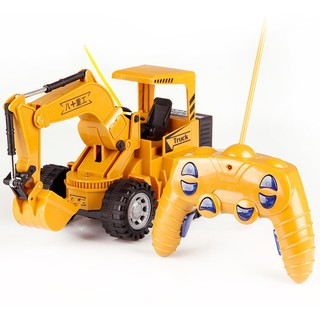 Toys Remote control simulation excavator model 5-channel flash 91108
