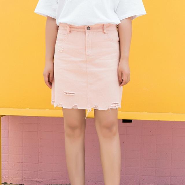 Chân váy jean màu hồng wash rách size lớn 60-67kg - 9947336 , 963813207 , 322_963813207 , 290000 , Chan-vay-jean-mau-hong-wash-rach-size-lon-60-67kg-322_963813207 , shopee.vn , Chân váy jean màu hồng wash rách size lớn 60-67kg