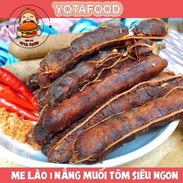 [Mã SKAMPUSHA8 giảm 8% đơn 300K] Me lào muối tôm 1 nắng nguyên trái loại ngon ( sấy khô ráo nước ) – 500 gram | Yotafood
