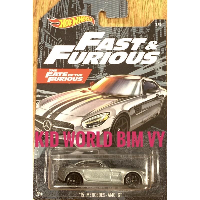 Xe mô hình Hot Wheels Fast & Furious Series 2020 '15 Mercedes-AMG GT GJV57.