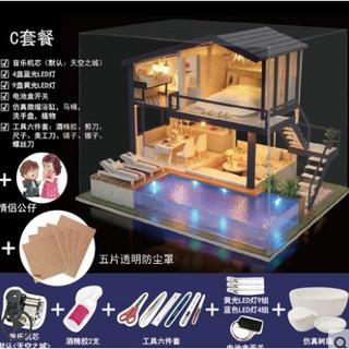 (order) Mô hình DIY ngôi nhà nghỉ dưỡng sang trọng