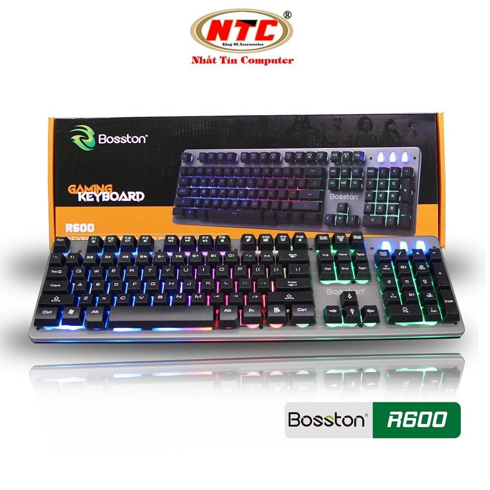 Bàn phím giả cơ chuyên game Bosston R600 Led đa màu (Đen) - Hàng chính hãng