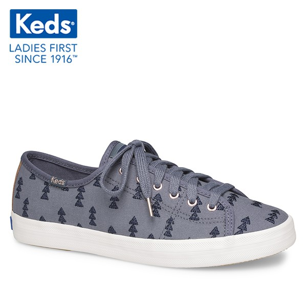 [WF59238] Giày Thể Thao Keds Nữ - Kickstart Hygge Embroidery Blue