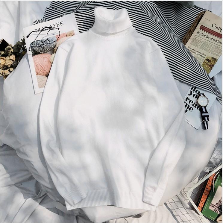 Áo len nam cổ lọ màu mới nhất 2020