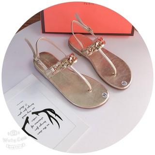 [Mã FATHANG5 giảm 10K đơn 50K] Giày sandanl bệt quai kẹp xích đế su dày chống trơn