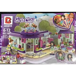 Đồ chơi xếp hình GIRLS CLUB Quán cà phê của EMMA-1027