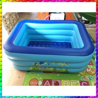 [HÀ NỘI] Bể bơi 3 tầng hình chữ nhật 150 x 110 x 55 loại dày