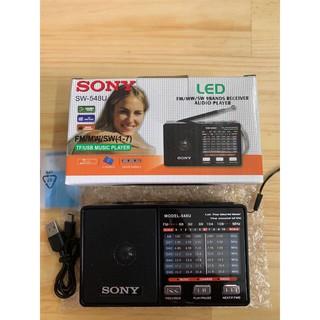 Radio nghe Đài FM Sony SW-548U Đài nghe FM, AM,SW Radio cho người già ( tặng dây sạc ) bảo hành 12 tháng thumbnail