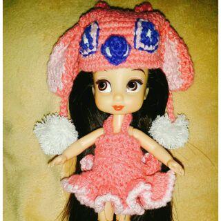 Set yếm, nón Sticth hồng cho ani mini