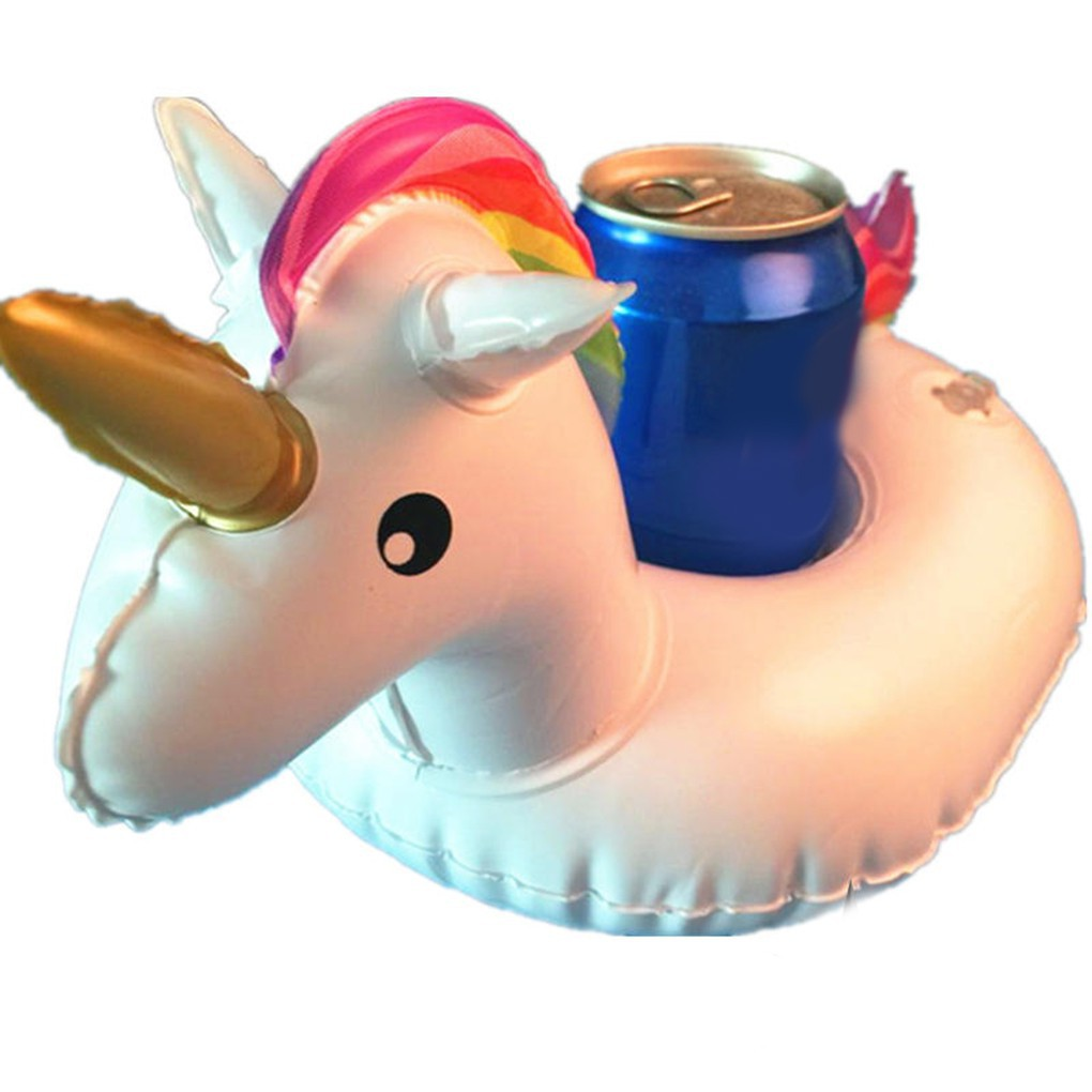 Inflatable PVC Cup Holder Horse Drink Water Toys Party Beverage Boats Phone St