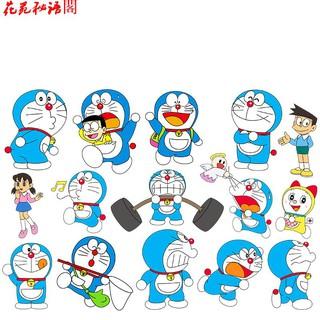 Miếng Dán Trang Trí Điện Thoại Hình Mèo Máy Doraemon Dễ Thương