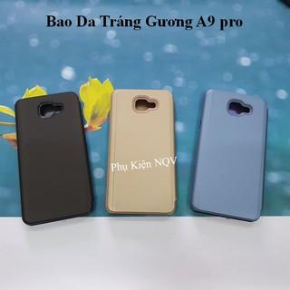 Samsung A9 pro|| Bao Da Clear View Standing Samsung A9 pro – Pk NQV