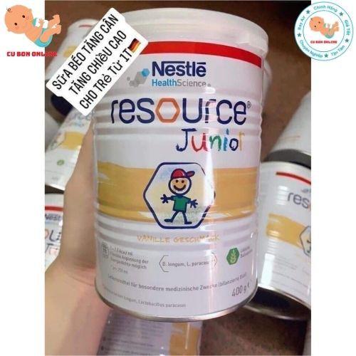 Sữa tăng cân RESOURCE JUNIOR 400G, Đức giúp bé từ tăng đề kháng phù hợp cho bé từ 1 tuổi đến 10 tuổi
