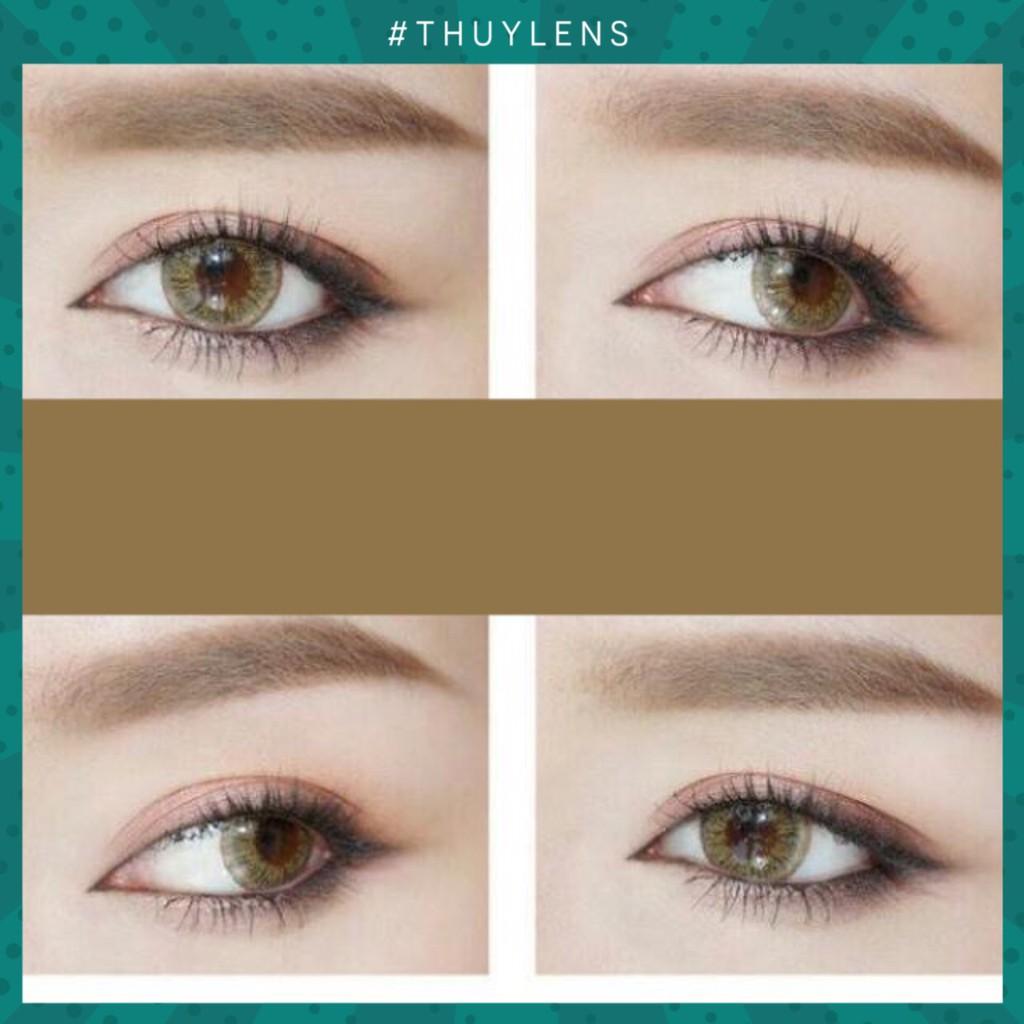 KÍnh áp tròng phong cách tây brown/gray nổi bật