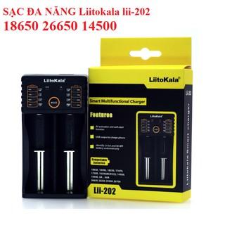 Bộ sạc 2 pin 3.7v loại 18650 Liitokala lii-202 pin 18650, 18490, 18350, 17670, 17500, 16340(RCR123), 14500, 10440, 26650 thumbnail
