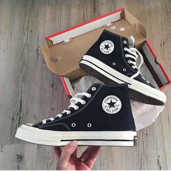 Giày sneaker đen cao cổ full hộp bill tag