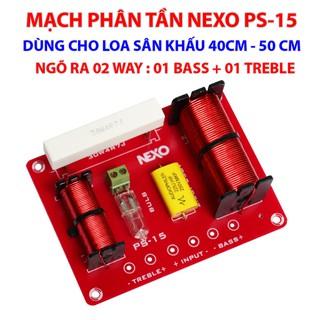 Mạch phân tần Nexo PS-15 Dùng cho Loa Karaoke, Loa công suất lớn, Loa sân khấu – Ngõ ra 01 Bass + 01 Treble