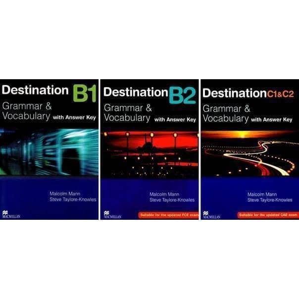 Sách - Combo 3 Cuốn Destination B1 + B2 Và C1&C2 (bản màu mới Tặng bút)