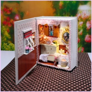 DIY Dollhouse LED Furniture Kit Girl Gift Toy Girl Diary