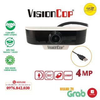 Webcam máy tính Học Online VisionCop , Siêu nét 4K,GÓC SIÊU RỘNG Hình ảnh video chân thực – Cam kết chất lượng