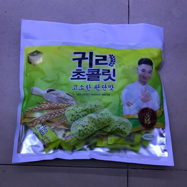 Bánh Yến Mạch Hàn Quốc 4 Mùi Trắng Vani Đỏ Socola Xanh Dứa Vàng Đậu Phộng