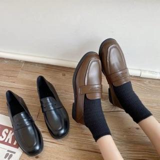giày moca trơn basic