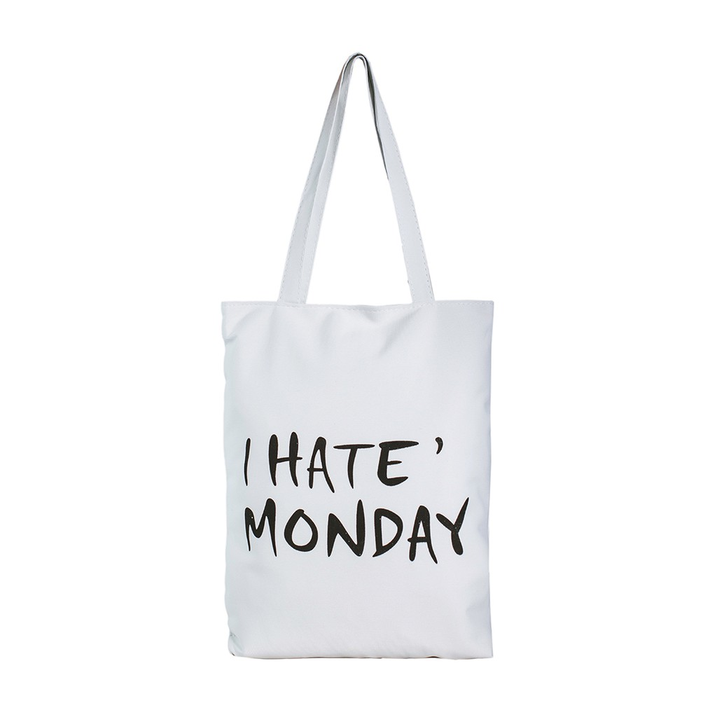 Túi Vải Đeo Vai Tote Bag I Hate Monday XinhStore - 2578461 , 442162989 , 322_442162989 , 55000 , Tui-Vai-Deo-Vai-Tote-Bag-I-Hate-Monday-XinhStore-322_442162989 , shopee.vn , Túi Vải Đeo Vai Tote Bag I Hate Monday XinhStore