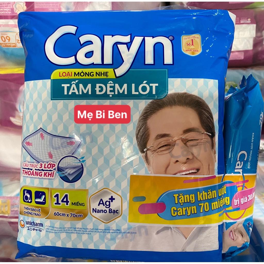 [SIZE XL] Tấm Đệm Lót Caryn siêu thấm size XL14 miếng bảo vệ chống trào