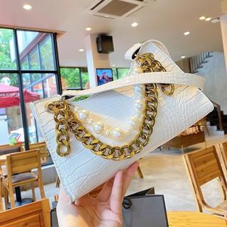 Túi kẹp nách Ngọc Trinh túi xách nữ đeo vai đeo chéo kèm hạt da vân cá sấu hàng  loại 1 TKNANGOC+ ảnh shop chụp