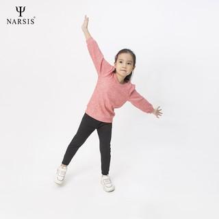 Áo đông bé gái len màu hồng Narsis KL0007