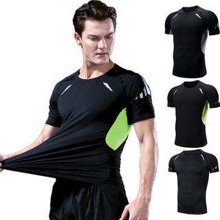 Men Short Sleeve Top Swimming Surfing Suit Swimsuit Sport Clothing Swimwear