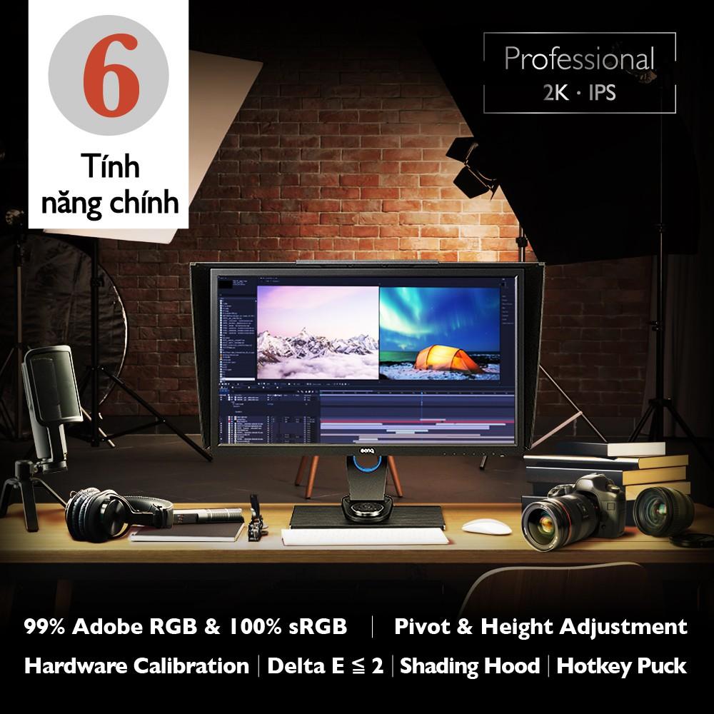 Màn hình máy tính BenQ SW2700PT 27 inch QHD 2K IPS Adobe RGB chuyên Xử lý hình ảnh cho Photographer