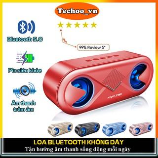 Loa bluetooth mini NIQIN S6 bluetooth 5.0 cao cấp, loa mini không dây có đèn led âm thanh siêu trầm ấm