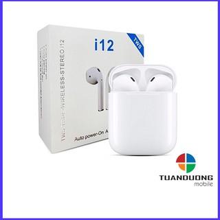 [Mã ELFLASH5 giảm 20K đơn 50K] Tai Nghe i12 TWS 5.0 - Bluetooth Kết Nối Không Dây