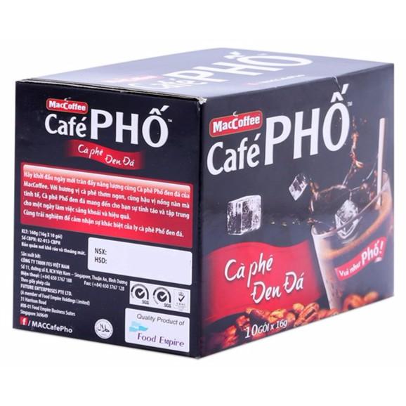 Cà phê đen hòa tan Phố hộp 160g (10 gói) - 3151062 , 496033200 , 322_496033200 , 28000 , Ca-phe-den-hoa-tan-Pho-hop-160g-10-goi-322_496033200 , shopee.vn , Cà phê đen hòa tan Phố hộp 160g (10 gói)