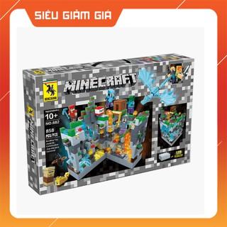 Lego Lắp Ráp Xếp Hình MineCraft My World Sáng Tạo Mô Hình Đánh Bom Thung Lũng Kim Cương 858 Khối REN682