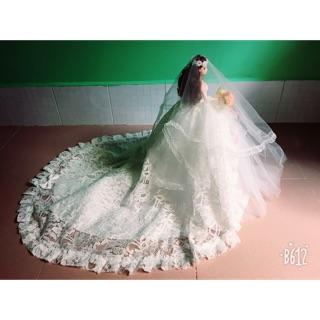 Búp bê áo cưới phiên bản váy trắng xinh xuất sắc