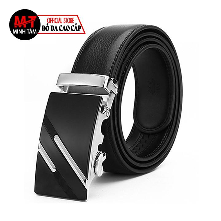 Thắt lưng nam Minh Tâm da PVC cao cấp , thời trang nam MT10605 , đen