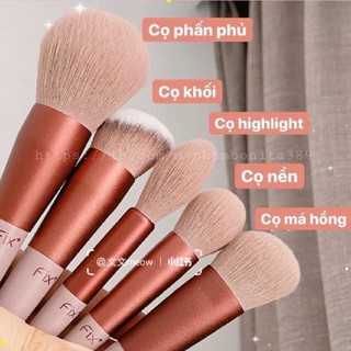 [ bộ 13 cây ] Cọ trang điểm Fix Hồng 13 Cây,bộ Cọ makeup Trang Điểm cá nhân kèm túi đựng HT 7
