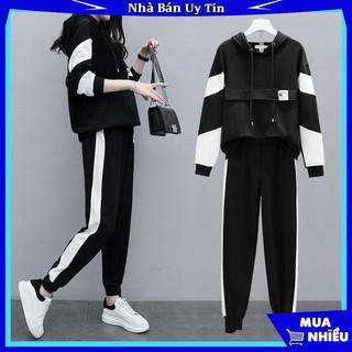 Bộ Quần áo thu đông nam nữ FREESHIP mã TT38 dáng thể dục thể thao hàn quốc đẹp gồm áo khoác hoodie và quần jogger thumbnail