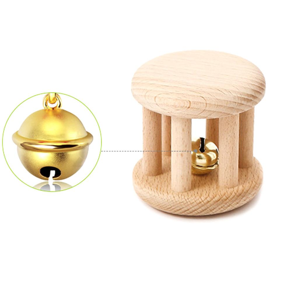 Hand Wooden Intellectual Teething Montessori Toys Rattle Stroller Interesting Molar Chew Baby