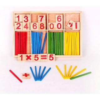 Bảng học toán kèm que tính đồ chơi giáo dục